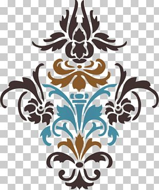 Damask Stencil Paper Craft Pattern PNG