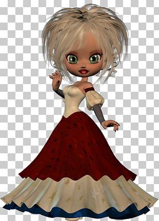 Human Hair Color Doll Brown Hair Figurine PNG