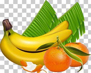 Banana Leaf Fruit Orange PNG