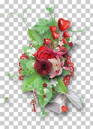 Floral Design Valentine's Day Love Flower Bouquet PNG