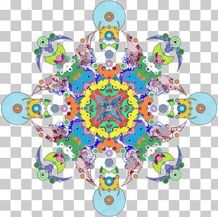 Symmetry Circle Pattern PNG