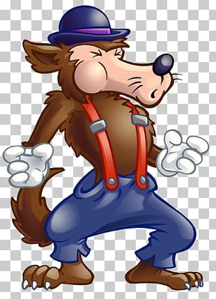 Big Bad Wolf The True Story Of The 3 Little Pigs! Gray Wolf Aesops Fables PNG