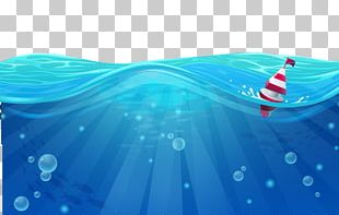 Cartoon Sea Wind Wave PNG