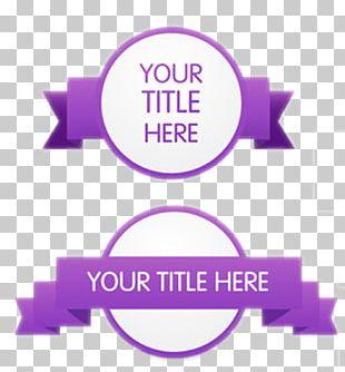 Purple Ribbon Paper Euclidean PNG