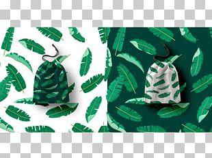 Banana Leaf Wacom Pattern PNG