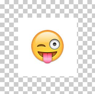 Emoji Wink Smiley Face Tongue PNG