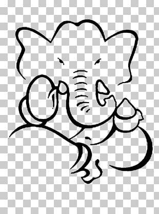Ganesha Drawing Art Painting Sketch PNG