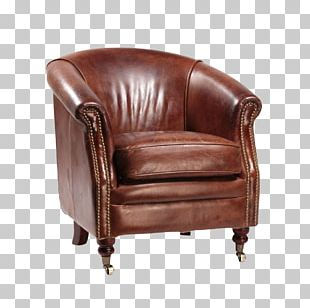 Club Chair Couch Leather Recliner PNG