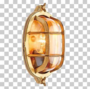 Lighting Brass Lamp Light Fixture PNG
