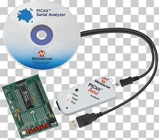 PICkit Microchip Technology Serial Communication Embedded System Electrical Cable PNG