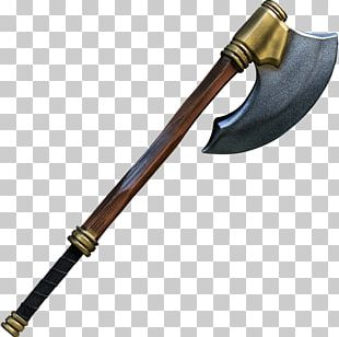 Battle Axe Weapon Larp Axe Middle Ages PNG