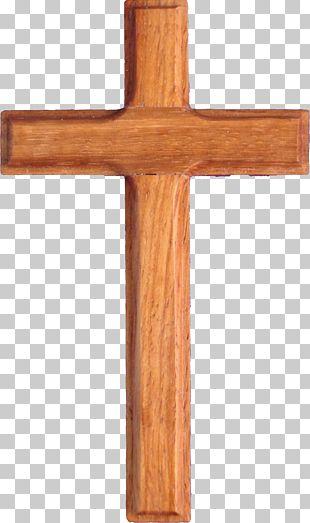 Christian Cross Wood PNG