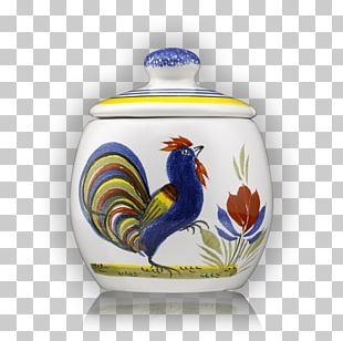 Rooster Vase Blue And White Pottery Ceramic Cobalt Blue PNG