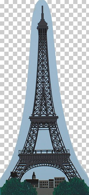 Cat's Meow Village Eiffel Tower Paris France 00-914 Steeple National Historic Landmark Spire PNG