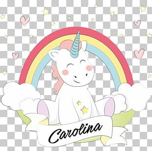 The Black Unicorn Horse Unicorn Rainbow PNG