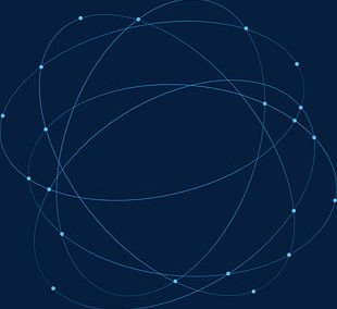 Blue Abstract Geometric Lines Circling Science And Technology PNG