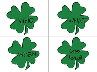 Saint Patricks Day Paper Craft Shamrock Greeting & Note Cards PNG