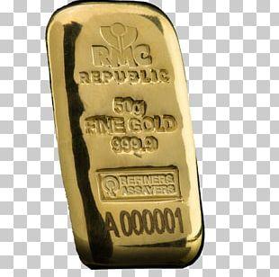 Gold Bar Metal Silver Bullion PNG