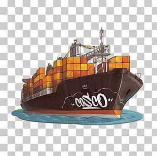 Container Ship Cargo Ship PNG