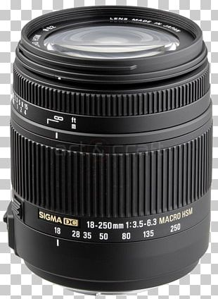 Canon EF Lens Mount Camera Lens Sigma 18-250mm F/3.5-6.3 Macro Photography Autofocus PNG