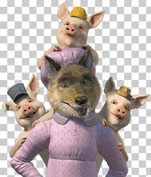 Shrek's Adventure The Three Little Pigs Gray Wolf Big Bad Wolf PNG