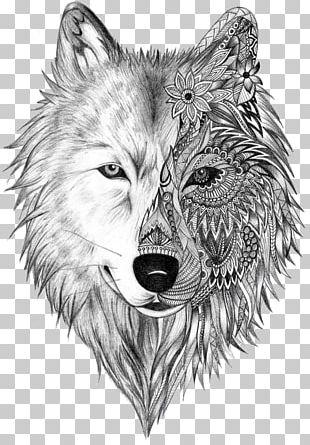 Tattoo Artist Gray Wolf Sleeve Tattoo Tattoo Ink PNG
