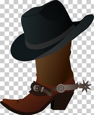 Hat N Boots Cowboy Boot PNG