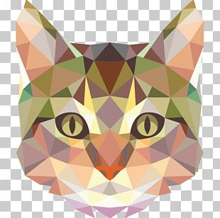 Wall Decal Sphynx Cat Kitten Geometry Animal PNG