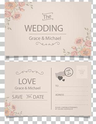 Wedding Invitation Postcard Paper Greeting Card PNG