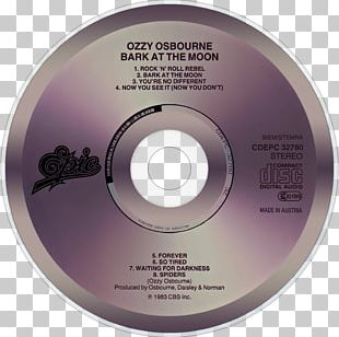 Compact Disc Bark At The Moon Music Television PNG