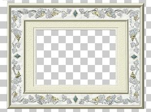 Silver Frame Gold Copper Pattern PNG