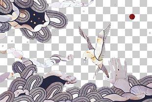 Cartoon Wind Wave Illustration PNG
