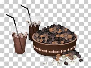 Iced Coffee Kopi Luwak Coffee Bean Brewing PNG