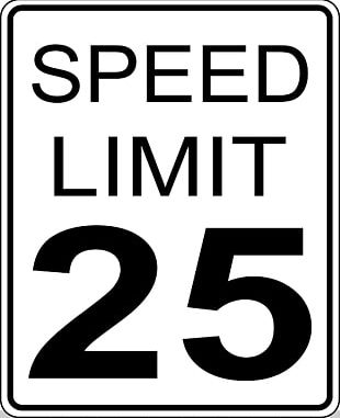 Speed Limit Traffic Sign Manual On Uniform Traffic Control Devices PNG