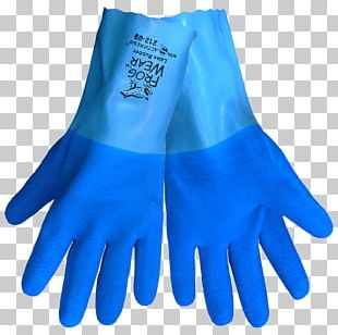 Medical Glove Cobalt Blue Evening Glove PNG