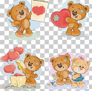 Teddy Bear Gift Stock Illustration PNG