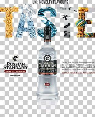 Liqueur Glass Bottle Vodka Russian Standard PNG