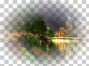 Desktop Melbourne Night City PNG