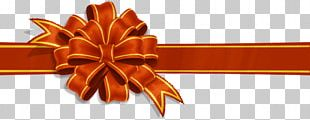 Gold Red Ribbon PNG