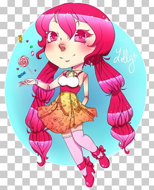 Illustration Cartoon Pink M Doll Legendary Creature PNG