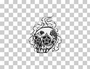 Calavera Skull Graffiti Drawing PNG