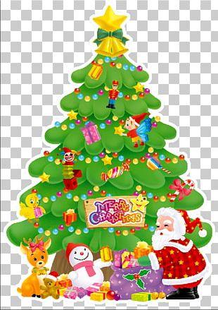 Santa Claus Christmas Card Christmas Tree Christmas Decoration PNG