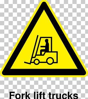 Forklift Transport Warning Sign PNG