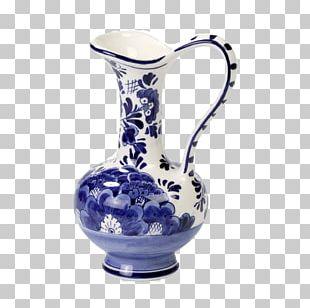 Jug Ceramic Glass Blue And White Pottery Cobalt Blue PNG