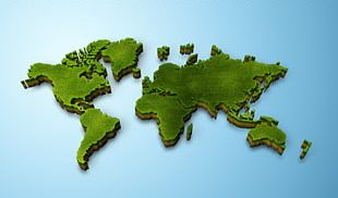World Map Globe 3D Computer Graphics PNG