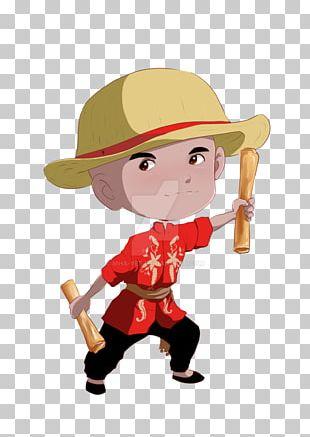 Cartoon Character Boy Figurine PNG