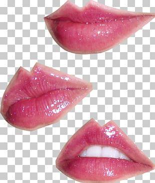 Lip Gloss Lipstick Magenta PNG