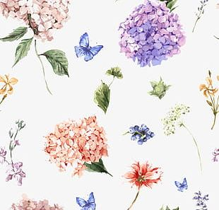 Beautifully Hand-painted Watercolor Flower Design PNG