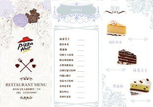 Menu Pizza Restaurant Dessert PNG