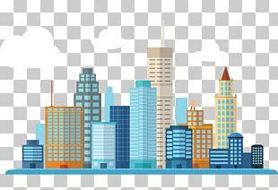 Smart City Building PNG